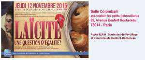 Invitation Laïcite - 12 novembre 2015 - nouvelle adresse