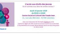 L'accès aux droits des jeunes Où en sommes nous dans les centres sociaux ? Jeudi 10 janvier 2019 de 9h30 à 13h00 Au Centre Social et Culturel des Fossés Jean […]